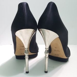 Gucci Satin Cutout Pumps